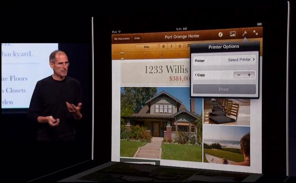 Bezdrátový tisk z iPad s iOS 4.2