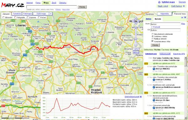 Plánovat cestu na kole je možné velmi podrobně...