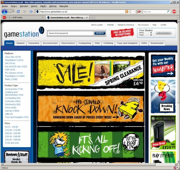 Internetový obchod Gamestation