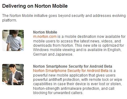 Norton Connect umožňuje bezpečný mobilní přístup k údajům