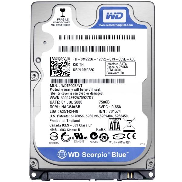 WD Scorpio Blue 750 GB