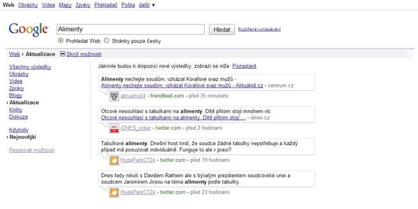 Google spustil vyhledávání v reálném čase