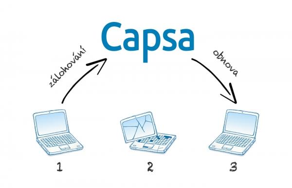 Capsa.cz spouští službu pro online  zálohování objemných dat