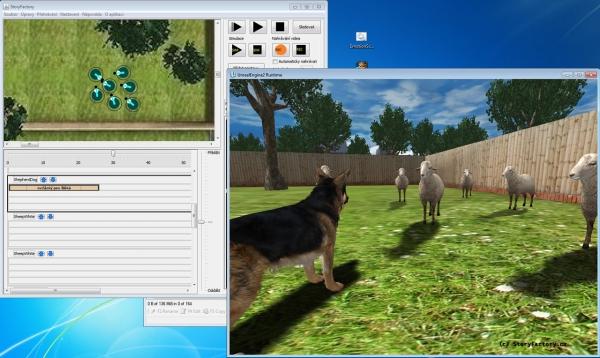 Příklady animací ve StoryFactory