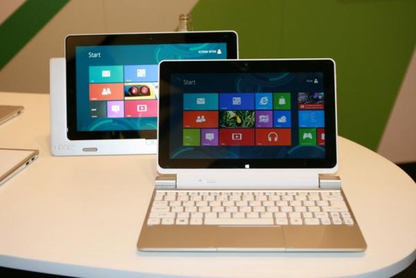 Nové přenosné počítače Acer s Windows 8