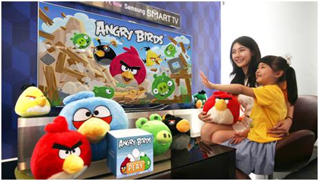 Populární hra Angry Birds v TV