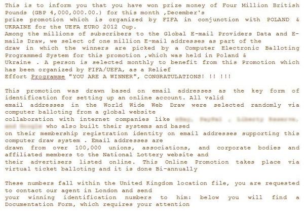 Ukázka podvodného e-mailu 2.