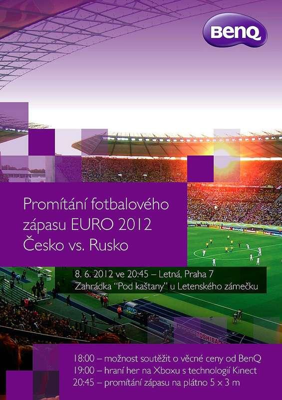 BenQ zve na promítání úvodního zápasu české fotbalové reprezentace na ME proti Rusku.