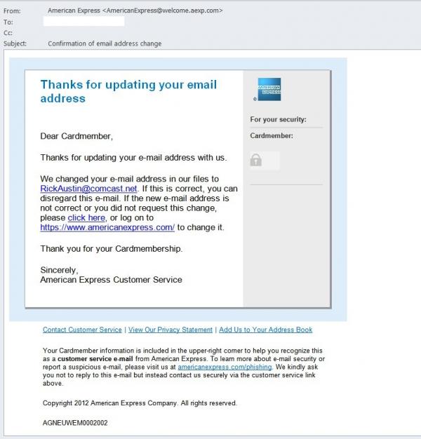 Takto vypadá falešná e-mail..
