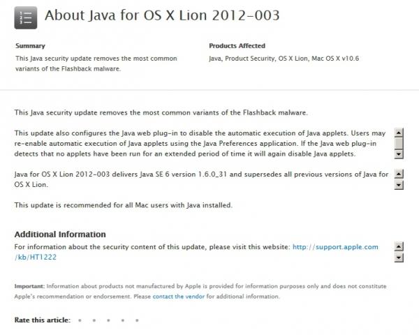 Apple již nabízí záplaty, které zranitelnost odstraní...
