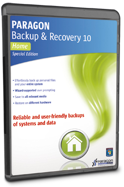 Paragon Backup and Recovery 10 Home Special Edition
