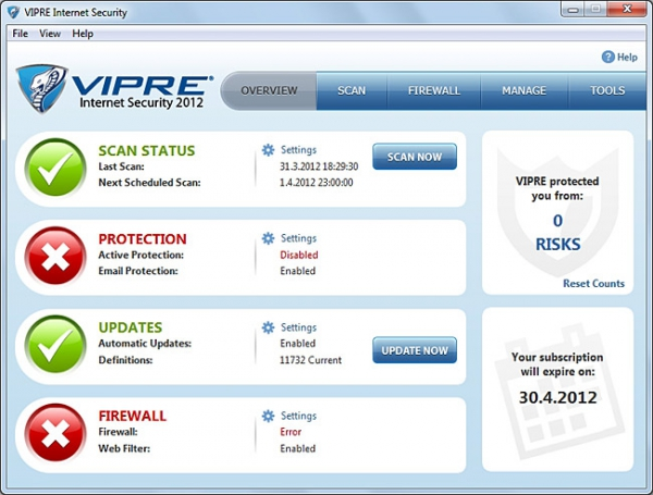 VIPRE Internet Security 2012