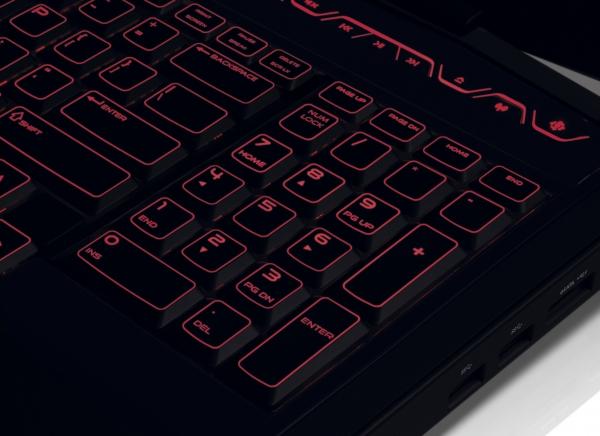 Podsvícená klávesnice Alienware M17x