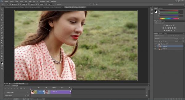 V programu Photoshop můžete zpracovat i video z digitálního fotoaparátu.