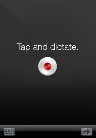 Ťukněte a diktujte, ovládání aplikace nemohlo být jednodušší.