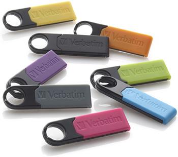 Barevné USB disky Store 'n' Go Micro jsou k dostání v kapacitách až 32 GB.