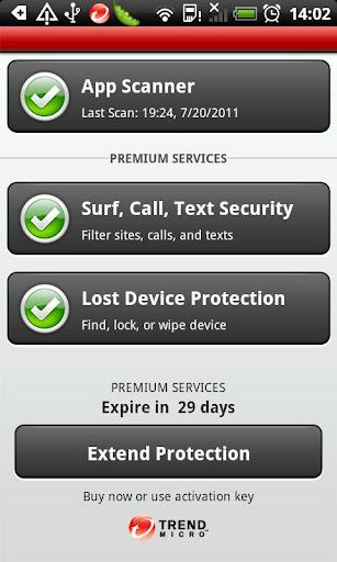 Základní zabezpečení je zdarma, za poplatek je ale možné zabezpečit i jiné oblasti použití smartphonu...