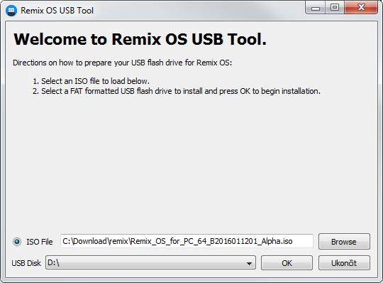 Příprava USB flash disku